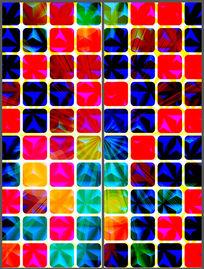 多彩方格移门图案模板 PSD
