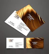 金色金属名片设计