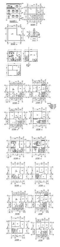 三层住宅楼房建筑CAD图 dwg