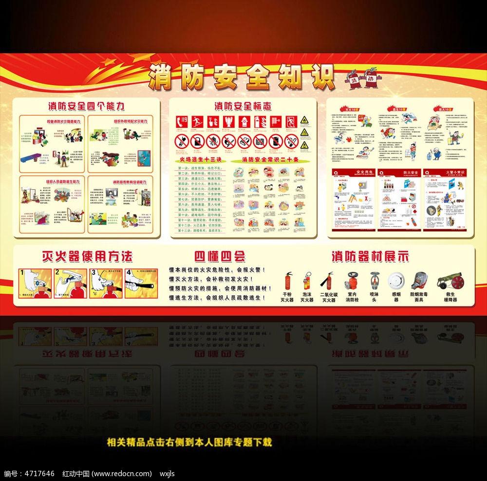 消防安全知识展板 消防安全宣传图片 消防安全意识 消防教育专题 党