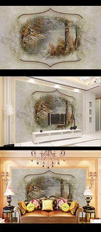 欧式大理石电视背景墙