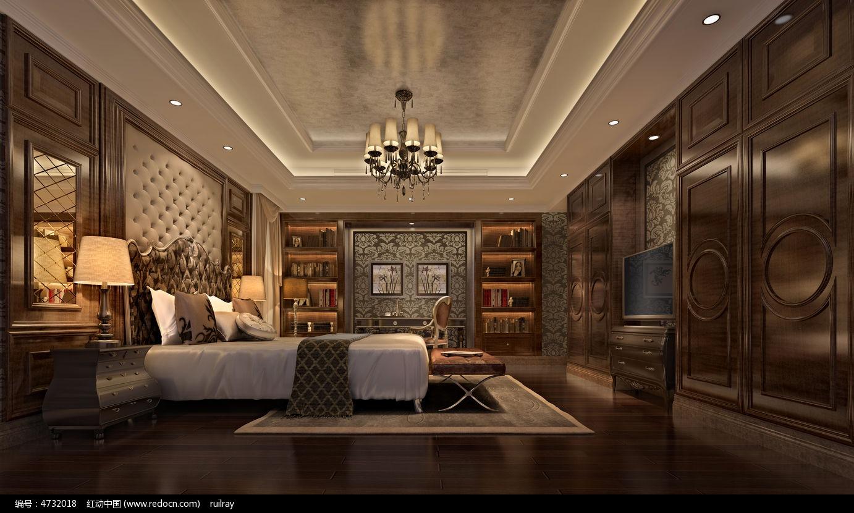大气欧式复古室内卧室3dmax图片