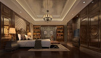 大气欧式复古室内卧室3dmax