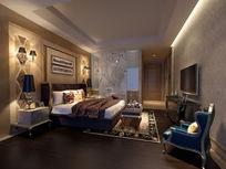 欧式卧室装修3d效果max