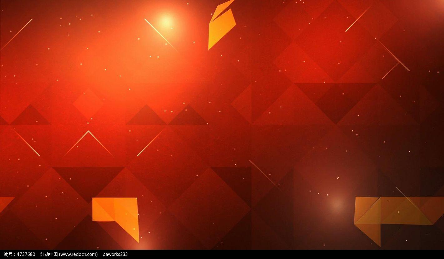 视频_红色科技动态视频素材