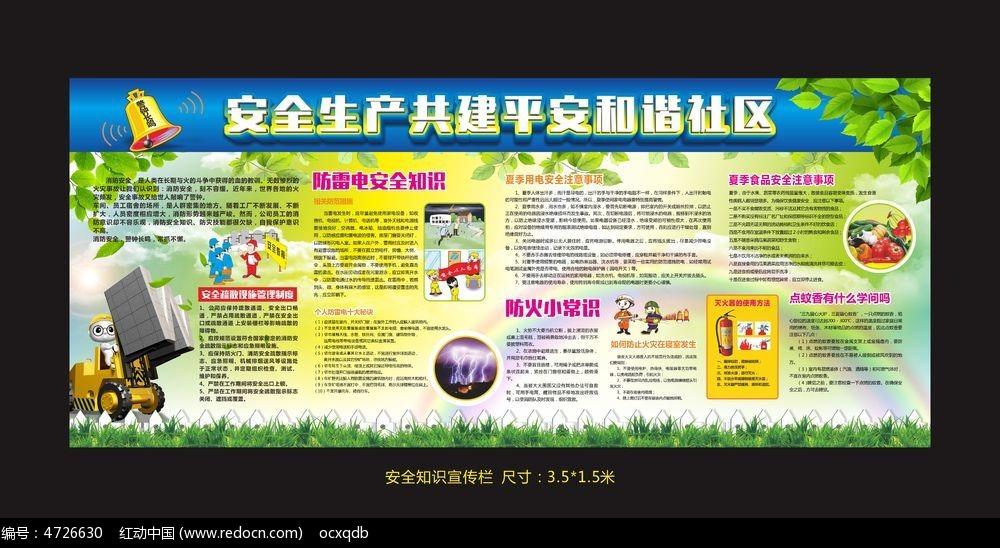 社区安全生产宣传栏设计图片图片