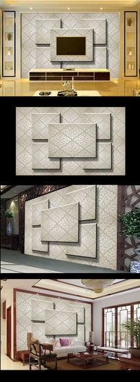 3D立体高档欧式电视背景墙