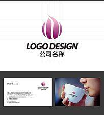 花瓣美容LOGO标志设计