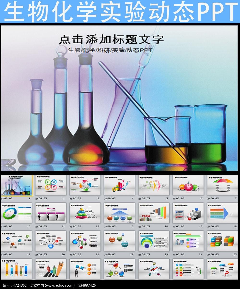 生物化学科学研究实验报告动态ppt模板pptx素材下载图片