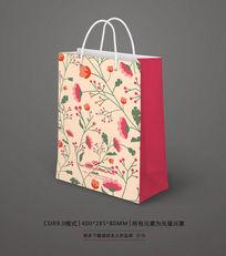 时尚花纹礼品手提纸袋设计