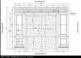 别墅背景墙CAD设计图纸