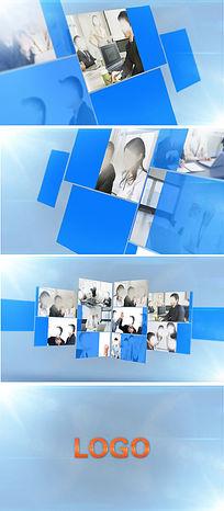 多张照片汇聚LOGO演绎特效动画ae模板
