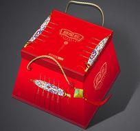 红色赛龙粽手提箱设计