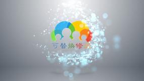 粒子光束logo标题开场视频ae模板