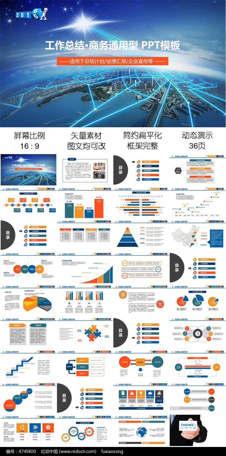年终总结计划销售业绩汇报年度工作报告ppt模板