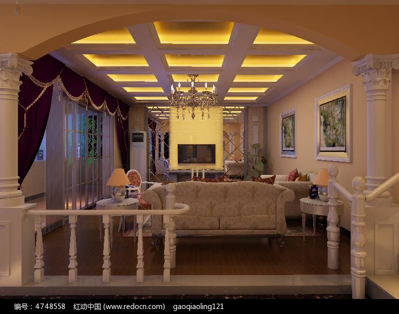 欧式室内装修模型