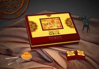 秋之意月饼包装礼盒模板