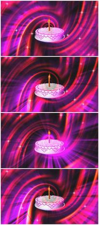 生日蛋糕庆祝视频素材