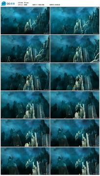 神秘诡异的石山石林高清背景视频素材