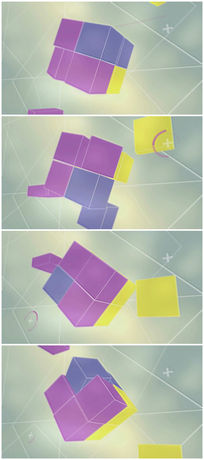 五彩立体魔方旋转视频素材