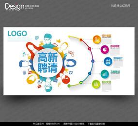 炫彩创意图标招聘海报设计