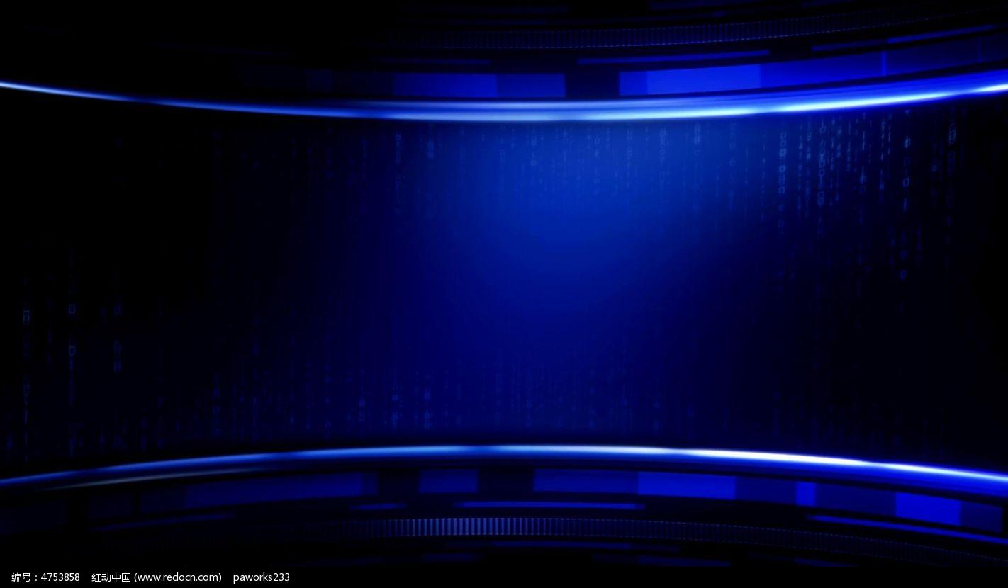 视频_大气蓝色背景视频素材