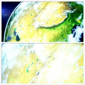 地球转动视频素材