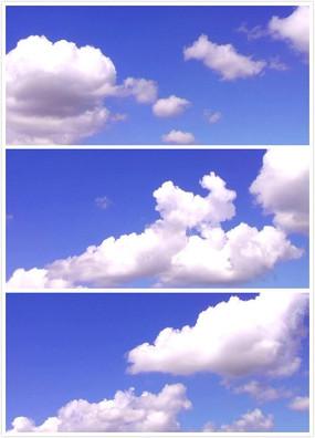 洁白的云朵视频素材 mov