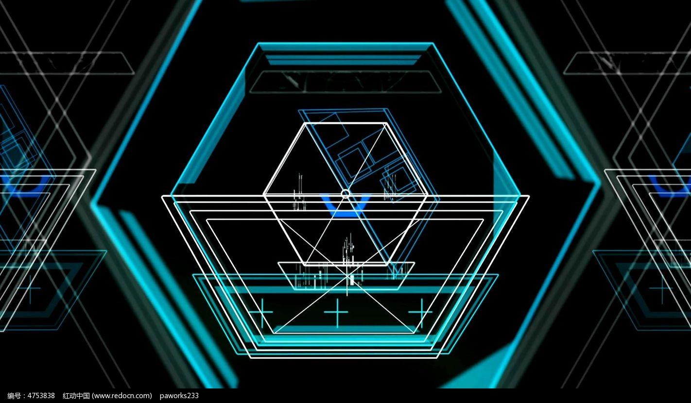 六边形科技感视频素材