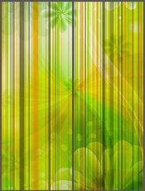 绿色线条花纹移门设计 PSD