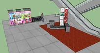 商场活动区布置效果图