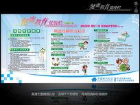 社区健康教育宣传展板设计