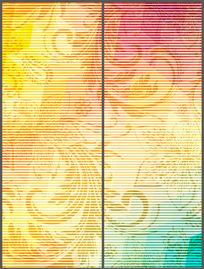 现代简约线条花纹移门 PSD