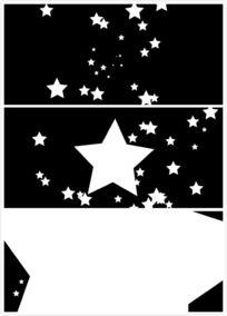 小星星变大视频素材