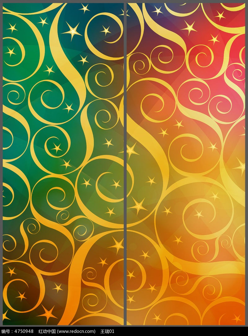 原创设计稿 装饰画/电视背景墙 移门图案 艺术花纹移门设计 psd  请您图片