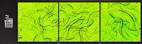 炫酷荧光绿无框画设计