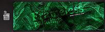 幽绿色纹理无框画模板