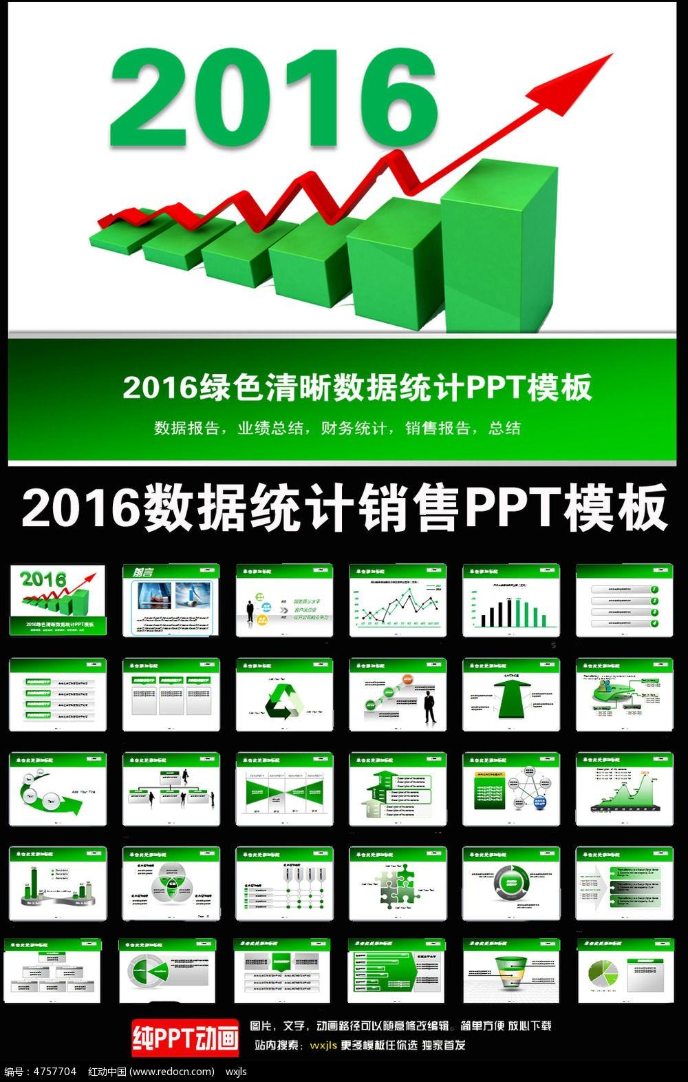 016绿色销售数据统计工作汇报PPT
