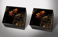 黑色中式高端燕窝礼盒模板