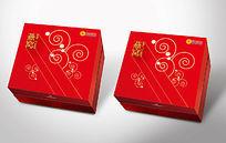 红色高端燕窝包装盒模板