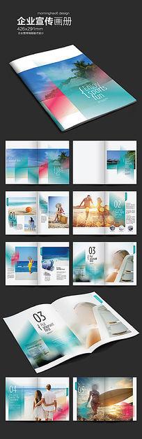 简约国外旅游画册版式设计