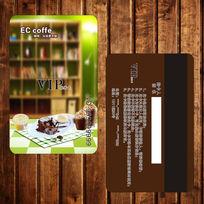 咖啡书吧会员卡设计下载