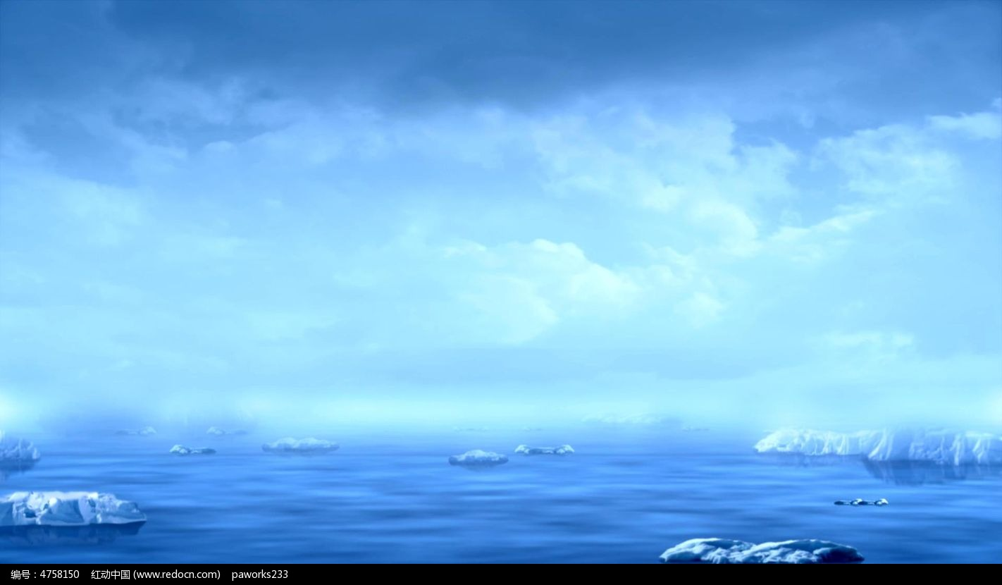 卡通女生背影大海