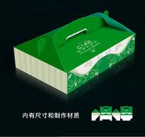 绿色花纹包装盒模板