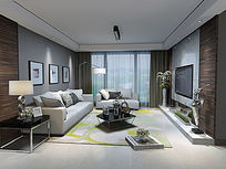 3d室内客厅设计3D MAX模型
