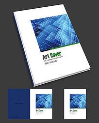 电子科技画册蓝色简约封面