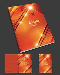 红色机械画册封面设计