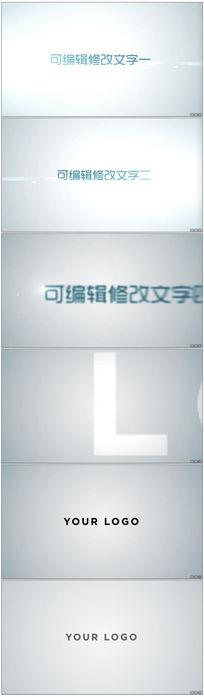 简洁干净logo演绎ae片头模板