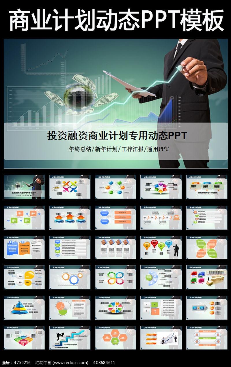 计划书投资收益融资报告PPT 商业融资 项目评估 融资 创业 投资 项目