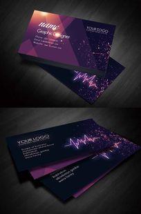 时尚紫色酒吧名片设计
